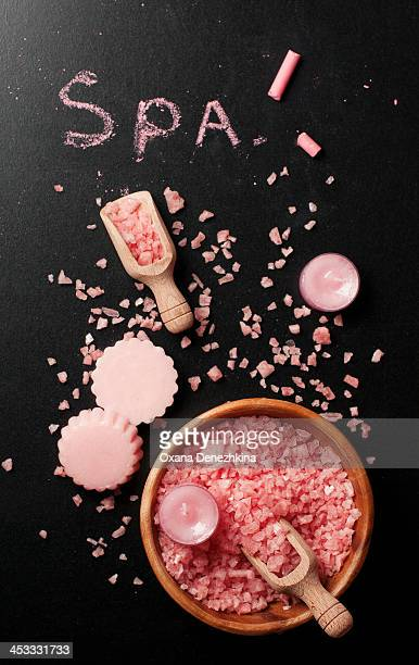 Pink salt and soap