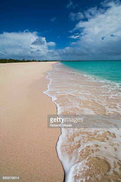 Pink Sand Beach is located on the southwest coast of the small island of Barbuda, Antigua and Barbuda, Leeward Islands, West Indies, Caribbean, Central America