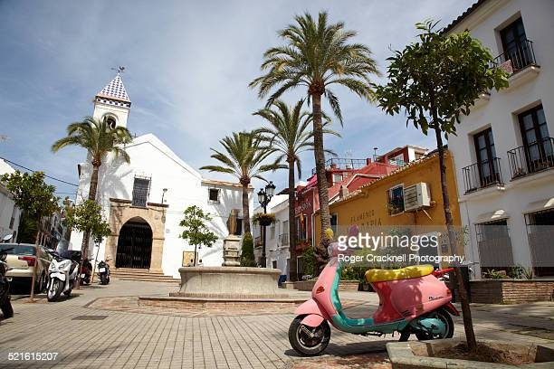 Pink Scooter In Old Marbella Spain