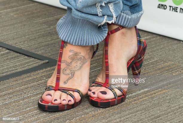 Pink shoe detail visits 'The Elvis Duran Z100 Morning Show' at Z100 Studio on October 10 2017 in New York City