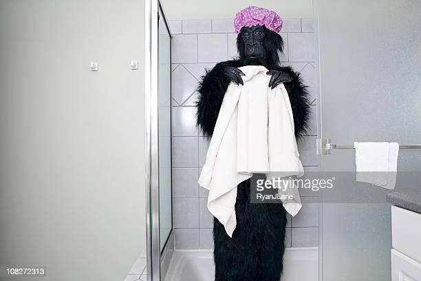 Pink Duschen Gorilla