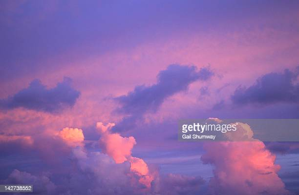 Pink sky and clouds at sunrise