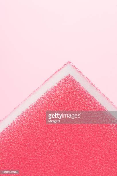 pink sponge on pink background - pore stock pictures, royalty-free photos & images