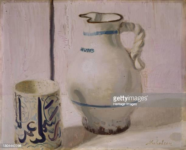 Pink Still Life With Jug, 1935-36. Artist William Nicholson.