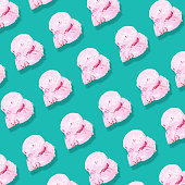 pink strawberry cone ice cream pattern