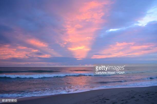 Pink sunrise at melbourne beach