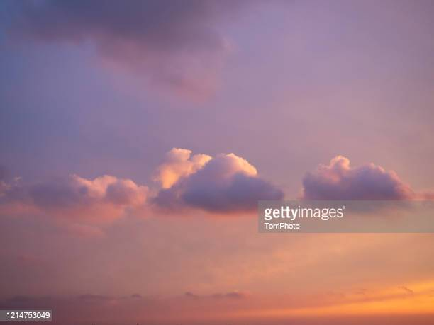 pink sunset cloudscape - overcast stock pictures, royalty-free photos & images