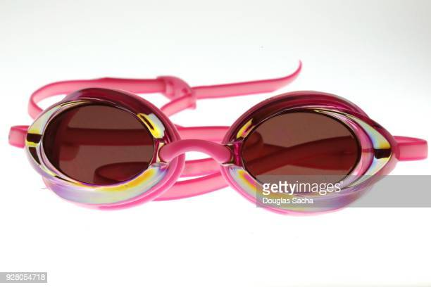 Pink Swimmers eye goggles on a white background