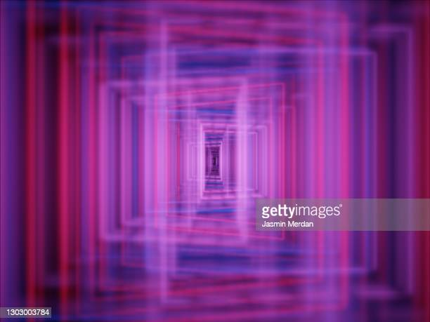 pink ultraviolet - installation art stock pictures, royalty-free photos & images