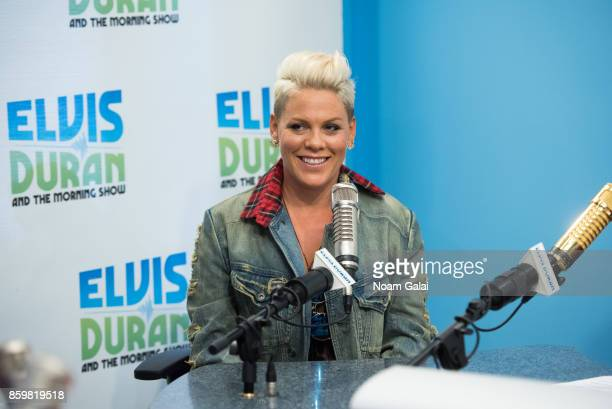 Pink visits The Elvis Duran Z100 Morning Show at Z100 Studio on October 10 2017 in New York City