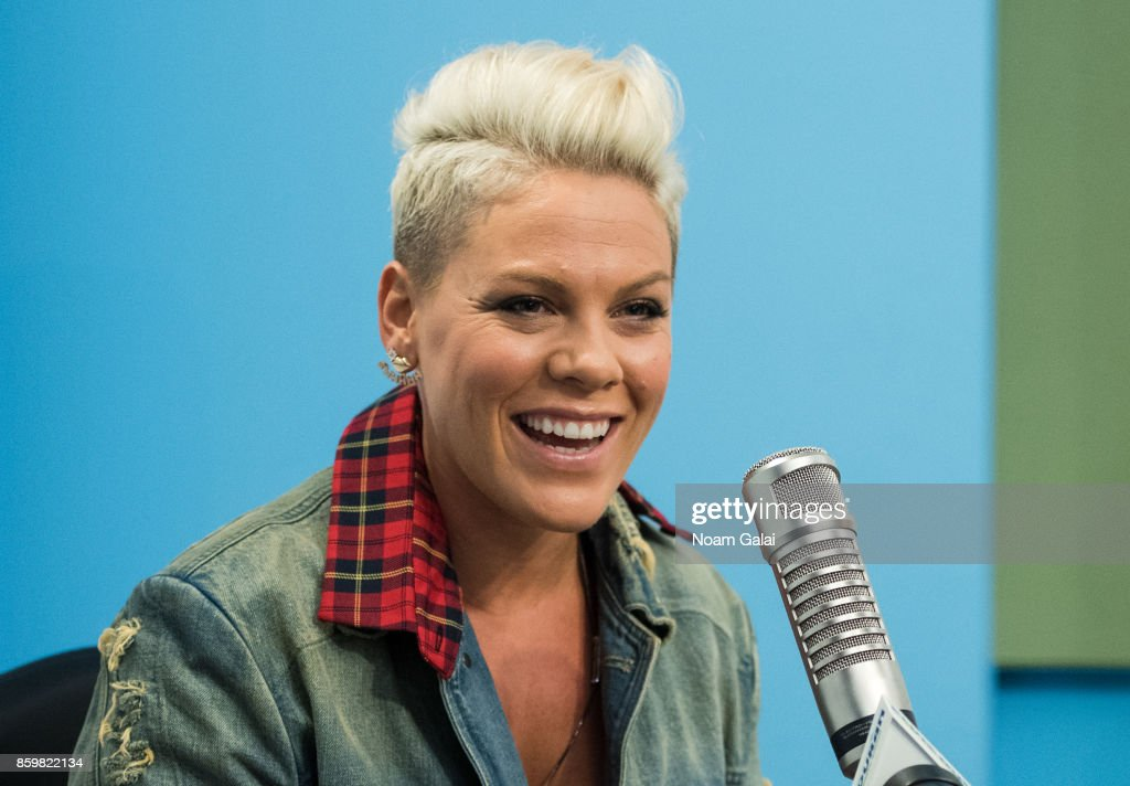 "Pink Visits ""The Elvis Duran Z100 Morning Show"" : News Photo"