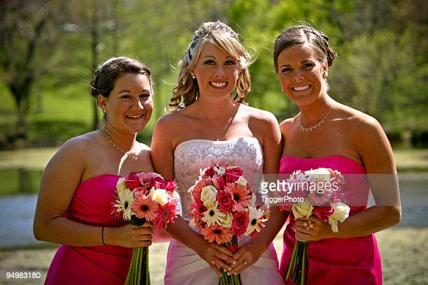 Pink Wedding Portraits