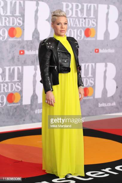 Pink winner of the Outstanding Contribution to Music Award attends The BRIT Awards 2019 held at The O2 Arena on February 20 2019 in London England