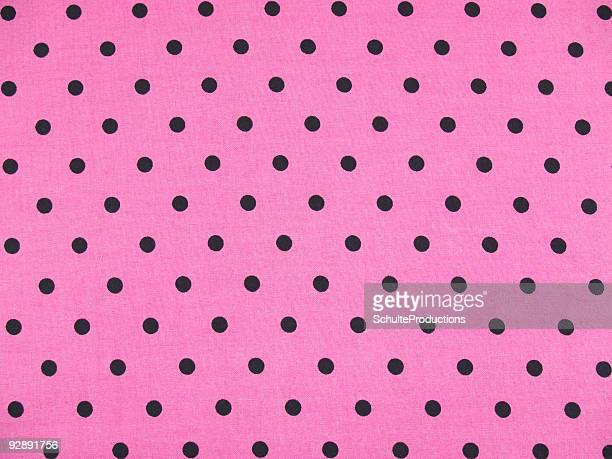Pink with Black  Polka Dots