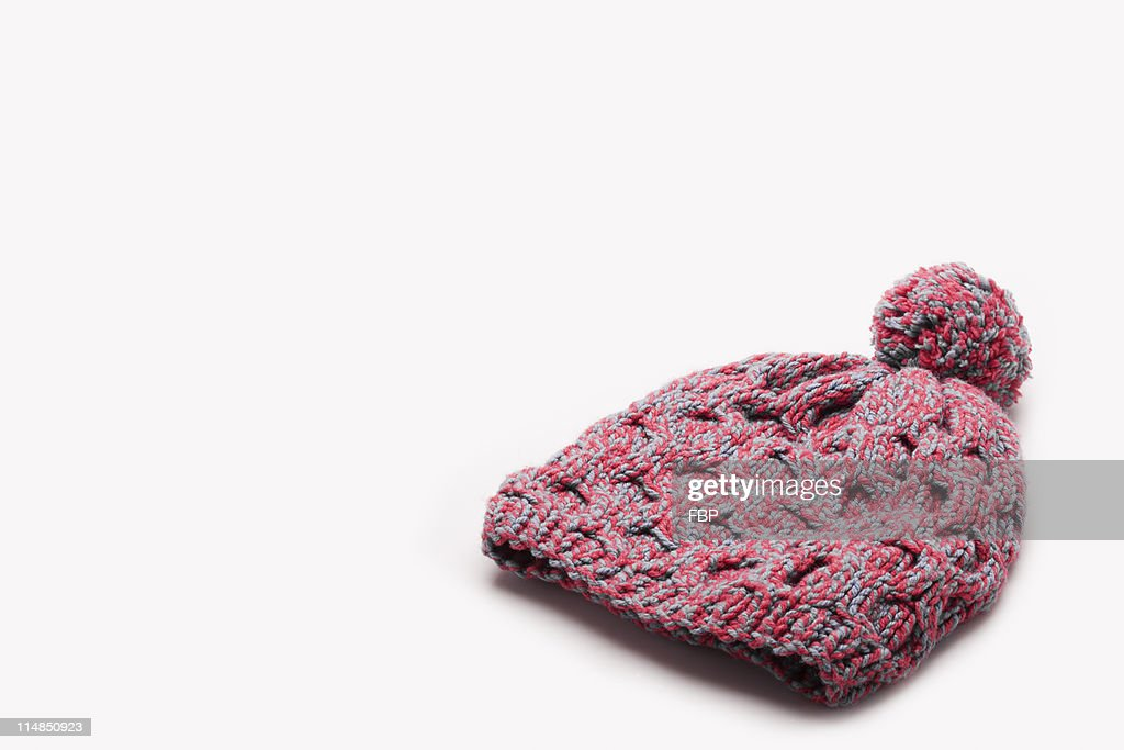 Pink wooly hat : Stock Photo