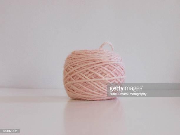 Pink yarn wool cashmere