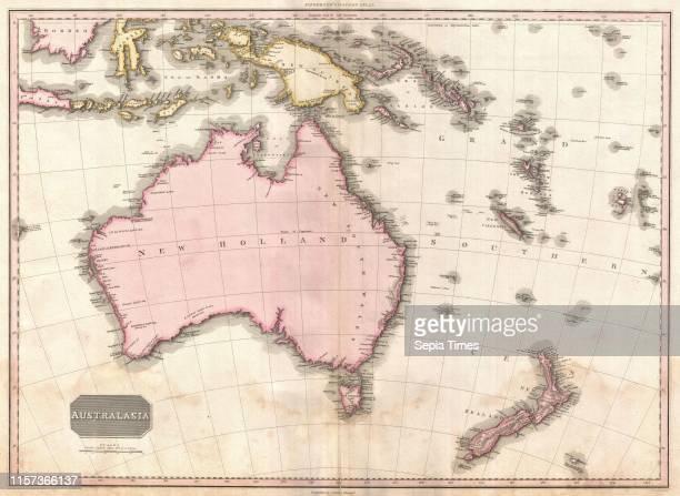 1818 Pinkerton Map of Australia and New Zealand John Pinkerton 1758 Ð 1826 Scottish antiquarian cartographer UK