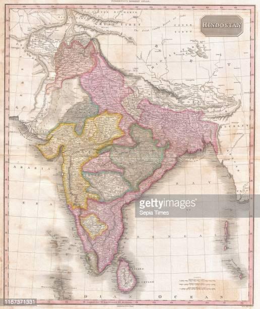 1818 Pinkerton Map of India Pakistan Afghanistan Tibet Nepal Sri Lanka John Pinkerton 1758 Ð 1826 Scottish antiquarian cartographer UK