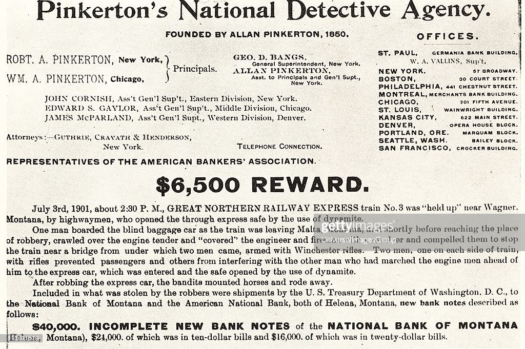 Pinkerton's National Detective Agency, American private detective