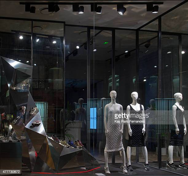 6e3cca8ff9a Pinko Paris Windows Display 2015 as Part of the World Fashion Window  Displays on April 26