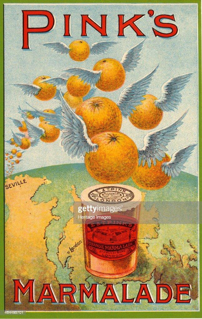 Pink's Marmalade, 19th century. : News Photo