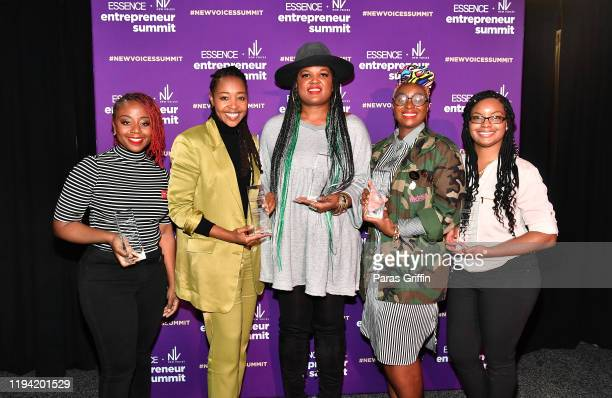 Pinky Cole, Dr. Lakeysha Hallmon, Beatrice Dixon, Kalilah Wright, and Monique Price attend ESSENCE + New Voices Entrepreneur Summit And Target...