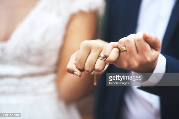 i pinky promise i'll be by your side forever - newlywed stock pictures, royalty-free photos & images
