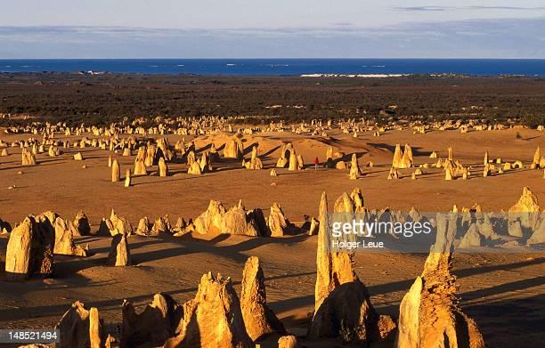 Pinnacle Desert rock formations.