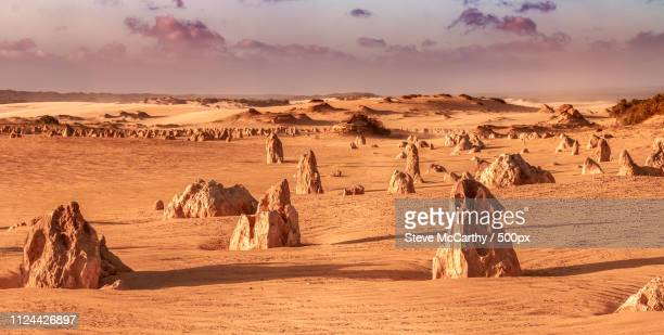 pinnacles desert of cervantes - pinnacle stock pictures, royalty-free photos & images