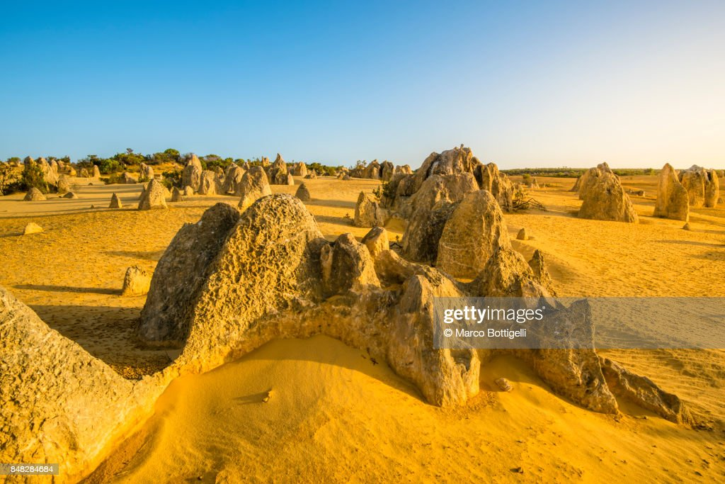 Pinnacles Desert, Western Australia. : Stock-Foto