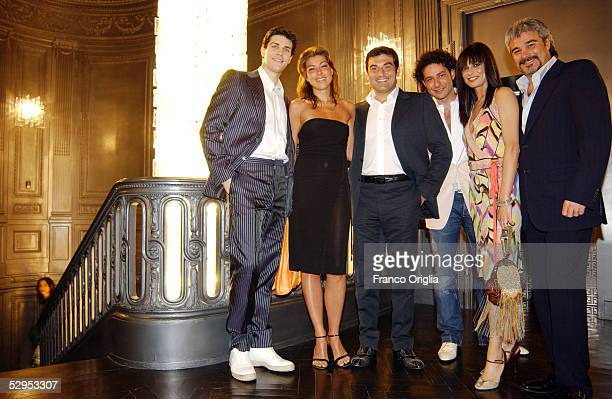 Pino Insegno, Roberta Lanfranchi, Andrea Mennella, Max Giusti with his wife and Roberto Bolle attend the party marking Palazzo Fendi opening to the...