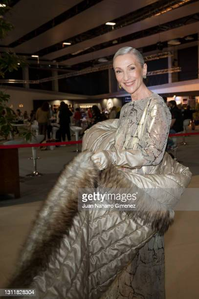 Pino Montesdeoca attends Angel Schlesser fashion show during the Merecedes Benz Fashion Week April 2021 edition at Ifema on April 10, 2021 in Madrid,...
