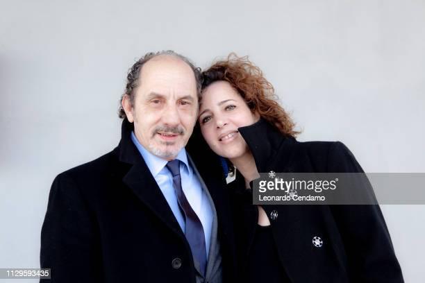 Pino Roveredo Italian writer and Antonella Gatti Bardelli portrait Carmiano Italy
