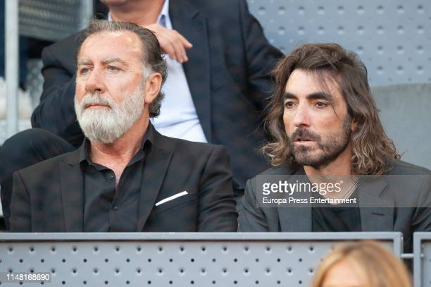 Pino Salgado and Javier Hidalgo attends Mutua Madrid Open at Caja Magica on May 09 2019 in Madrid Spain
