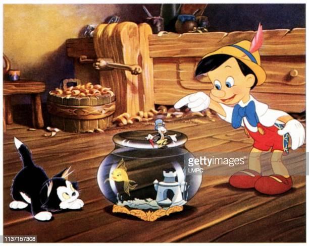 Figaro Cleo the Fish Jiminy Cricket 1940