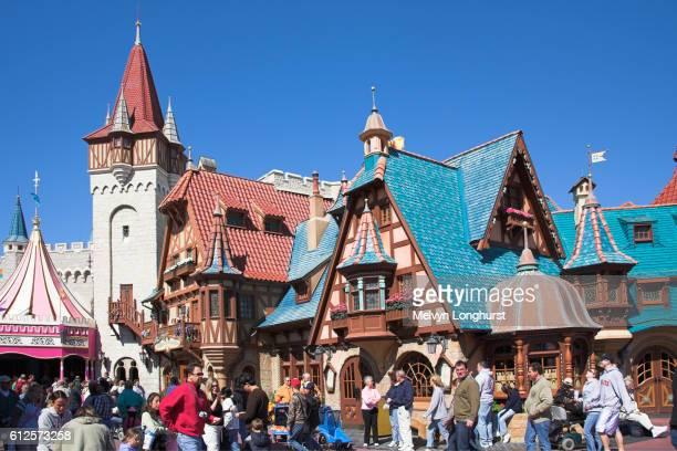 pinocchio village haus restaurant, fantasyland, magic kingdom, disney world, orlando, florida, usa - disney world stock pictures, royalty-free photos & images