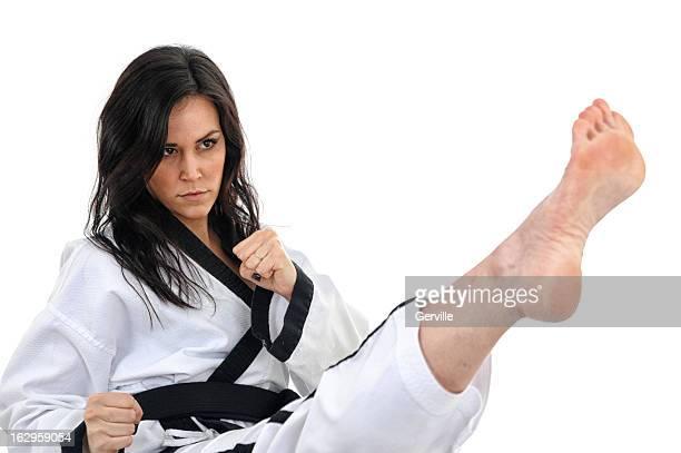 pinpoint kick - vechtsport stockfoto's en -beelden