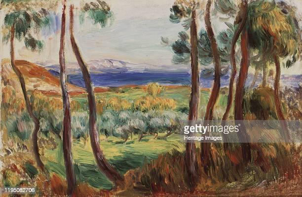 Pins aux environs de Cagnes, c. 1910. Found in the Collection of Collection Pérez Simón, Mexico. Artist Renoir, Pierre Auguste .
