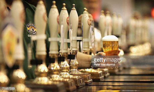 A pint of beer is served at The Great British Beer Festival on August 1 2006 in London The Great British Beer Festival runs from August 15 2006 at...