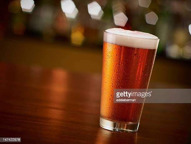 Pint of Beer On a Bar
