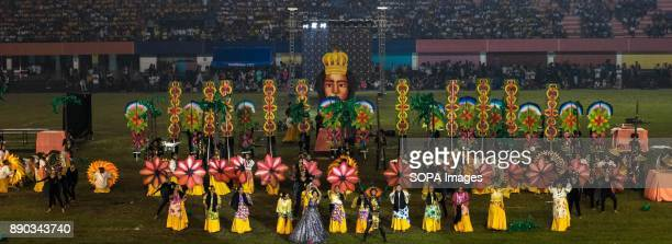 PHILIPPINES MARIKINA NCR PHILIPPINES Pintados Festival was surely shown with their eye captivating colorful props and costumesThe Biggest Annual...