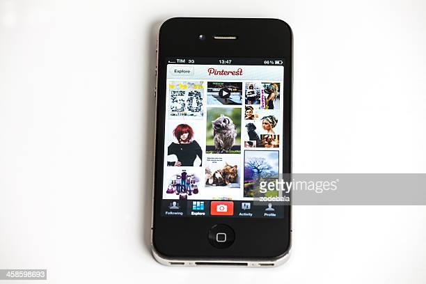 Pinterest Application on Iphone 4