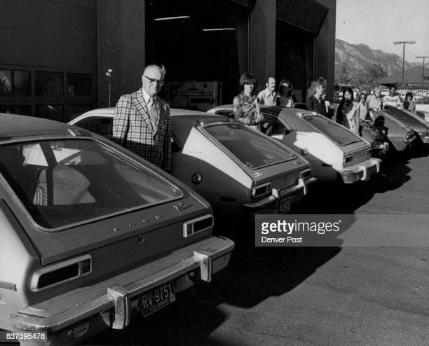 Pinto Owners Line Up Outside Service Department Waiting To Have Their Cars Modified This was at Arnold Brothers Motor Co where 14 owners of Ford...