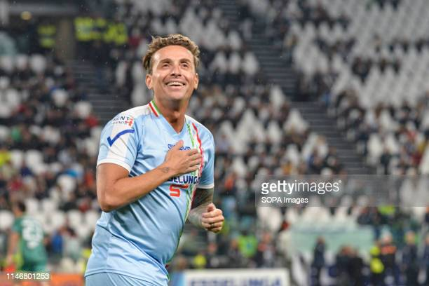 Pintus seen during the 'Partita Del Cuore' Charity Match at Allianz Stadium Campioni Per La Ricerca win the Champions for Research 32 against the...