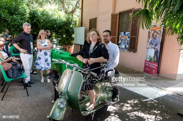 Pinuccia Montanari Counselor for Environmental Sustainability of Rome Capital behind Daniele Diaco President of the Environment Commission of Rome...