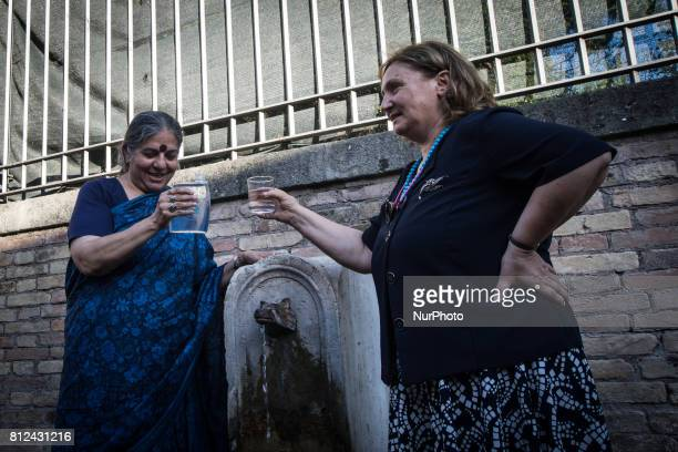 Pinuccia MontanariVandana Shiva during Flash Mob Earth Associations gather to defend the public good water and to ask the mayor of Rome Virginia...