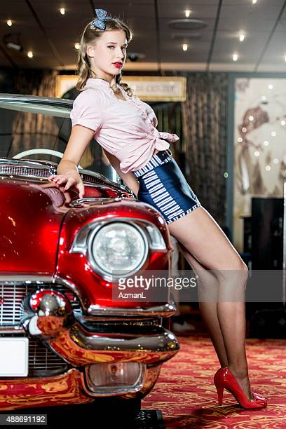 Pin-up Girl and a Car