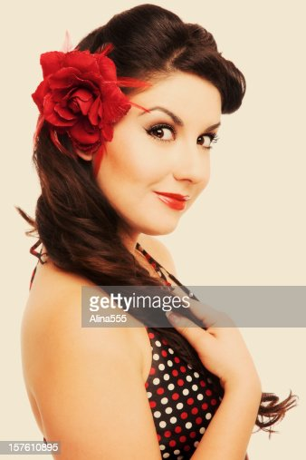 vintage pin up hair styles pinup classic vintage beautiful with retro 5047