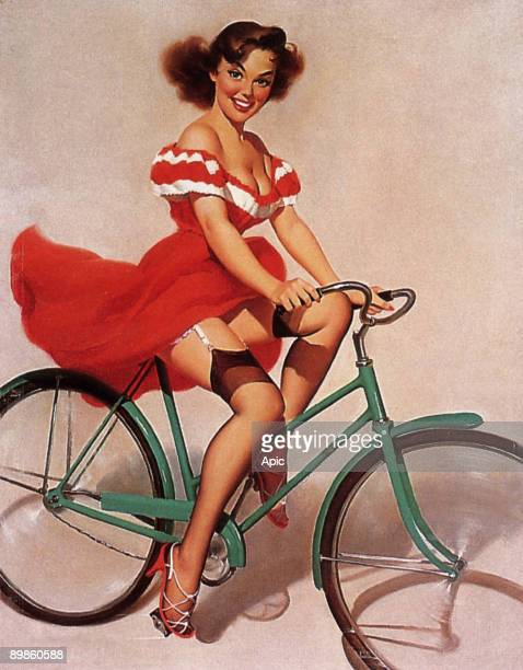 Pinup in the 50's drawing by Harry Ekman