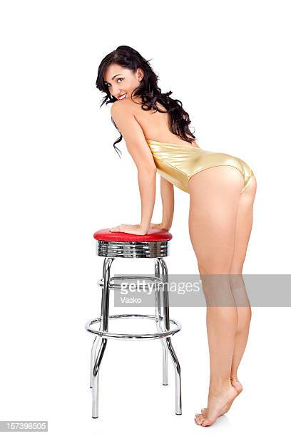 pinup model - woman bum stock photos and pictures